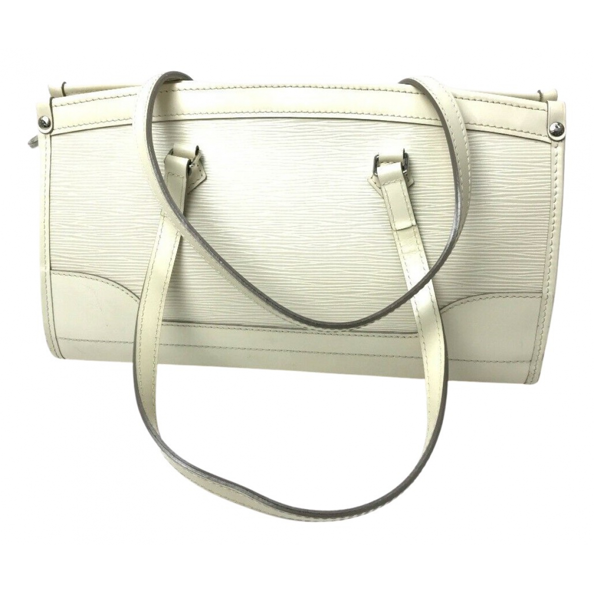 Louis Vuitton Madeleine White Leather handbag for Women N