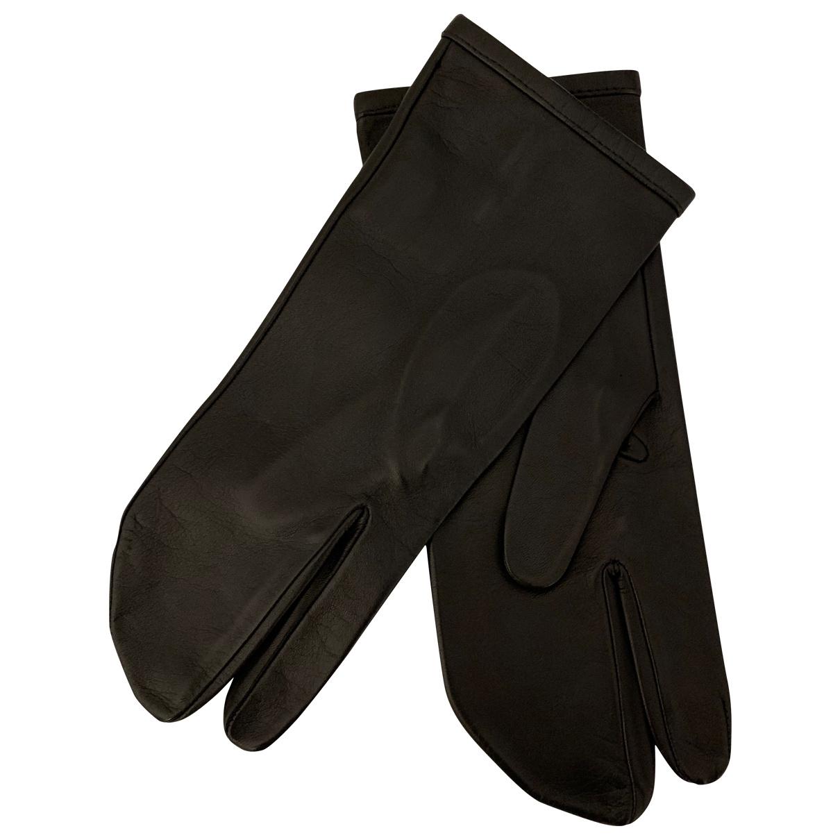 Maison Martin Margiela \N Black Leather Gloves for Women S International