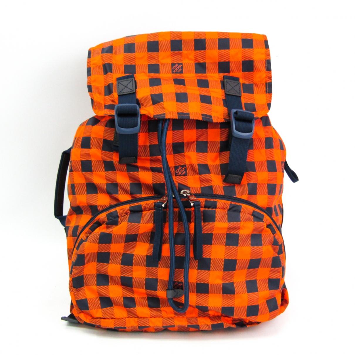 Louis Vuitton \N Orange Cloth bag for Men \N