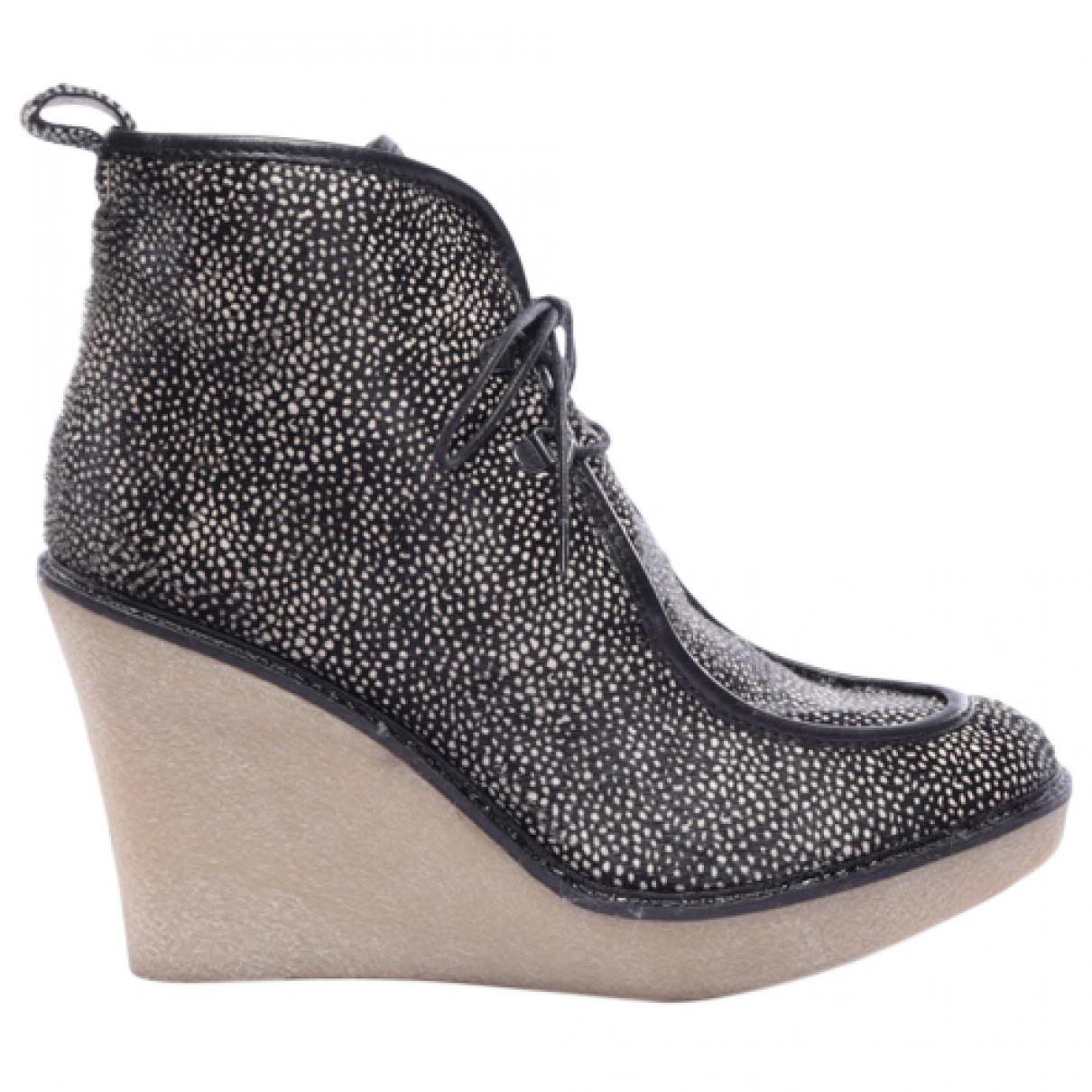 3.1 Phillip Lim - Boots   pour femme en cuir - noir