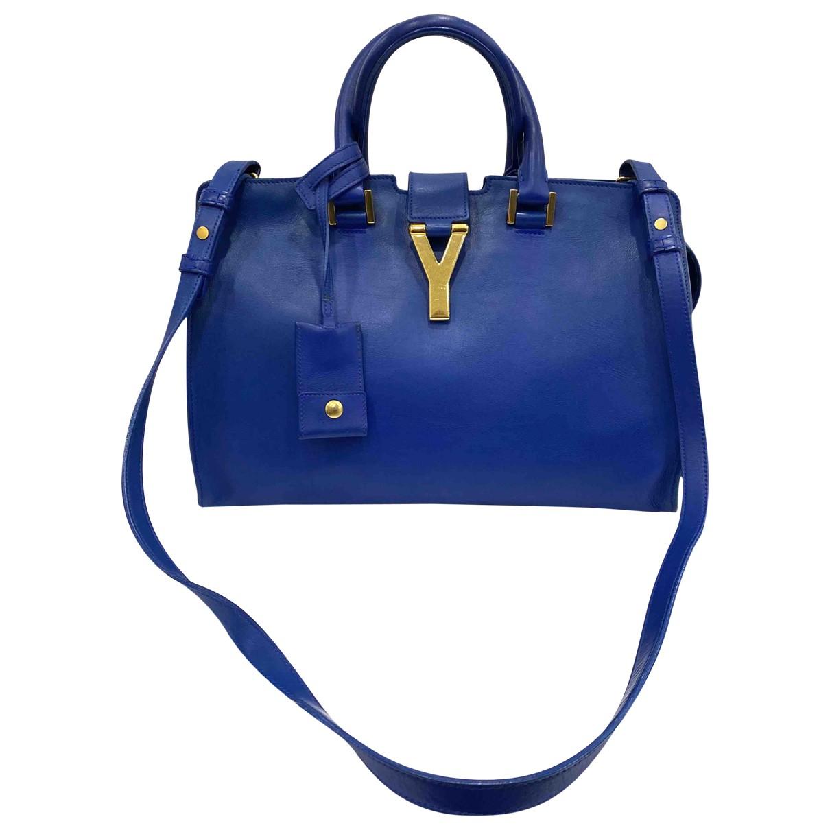 Saint Laurent Chyc Blue Leather handbag for Women \N