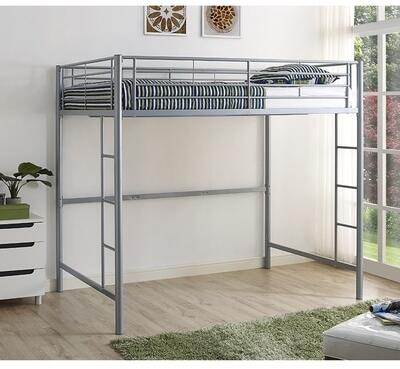 BDOLSL Premium Metal Full Size Loft Bed with Two Integrated Ladders in