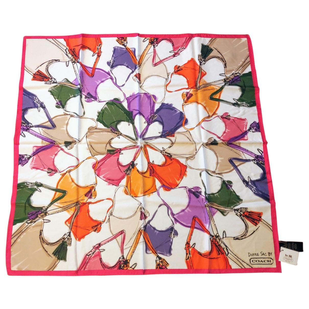 Coach - Carre   pour femme en soie - multicolore