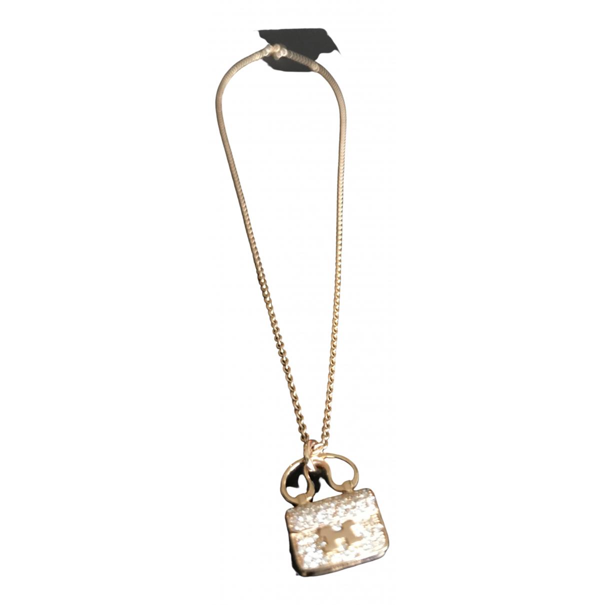 Hermes \N Kette in  Gold Rosegold