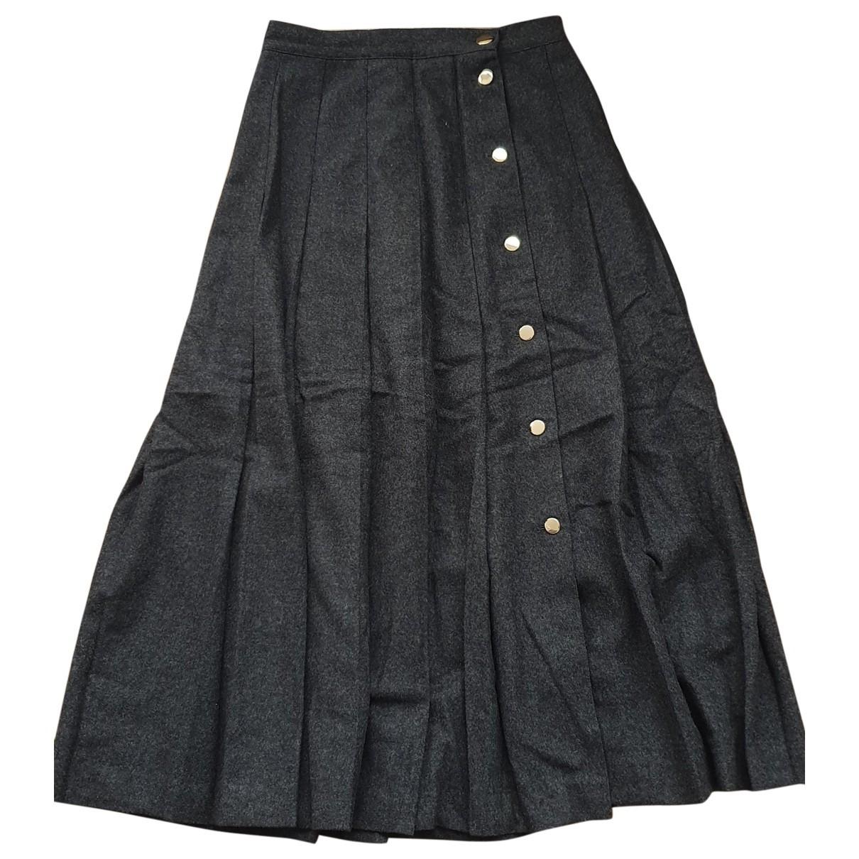 Max Mara \N Grey Wool skirt for Women 38 FR