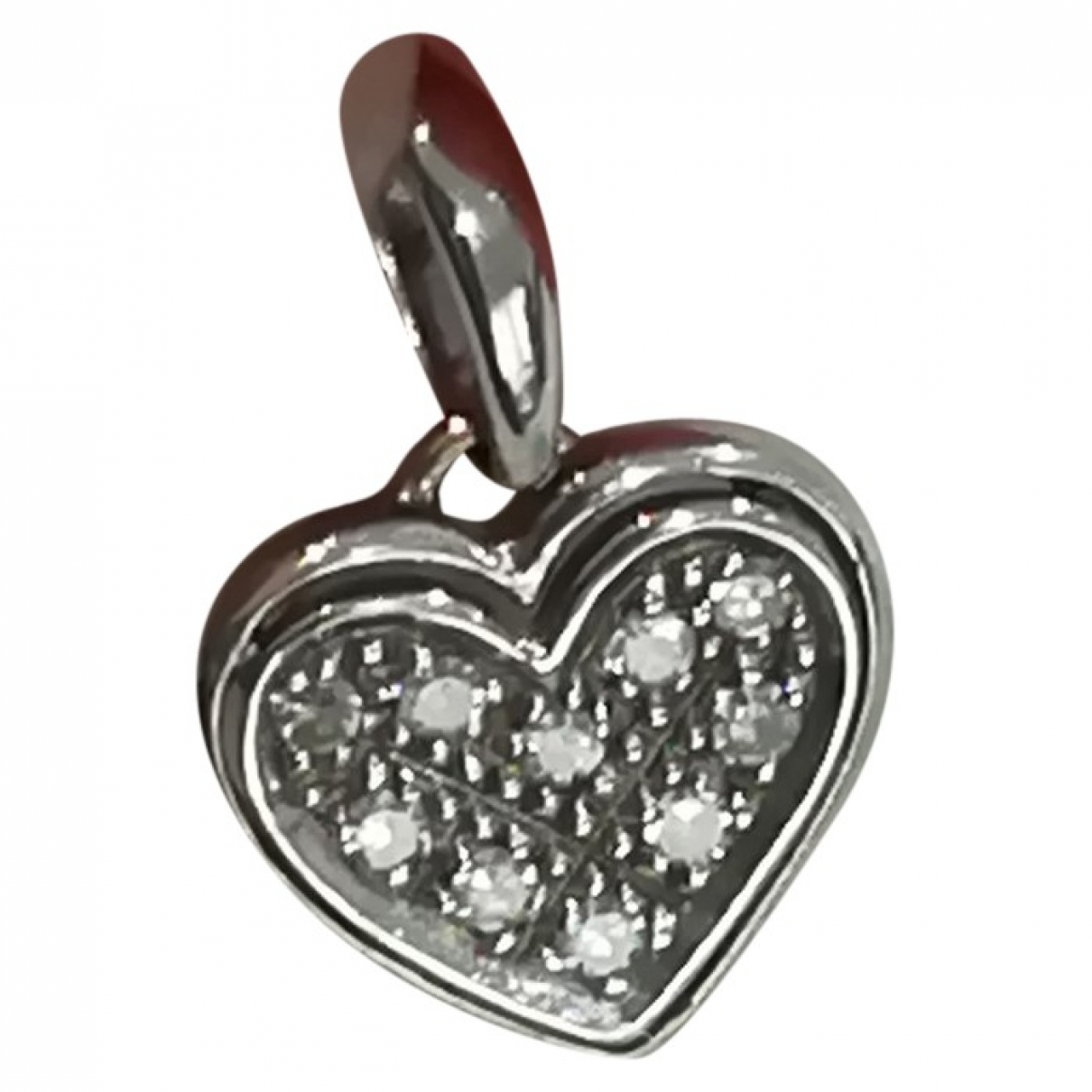 Non Signé / Unsigned Motifs Coeurs White gold pendant for Women \N