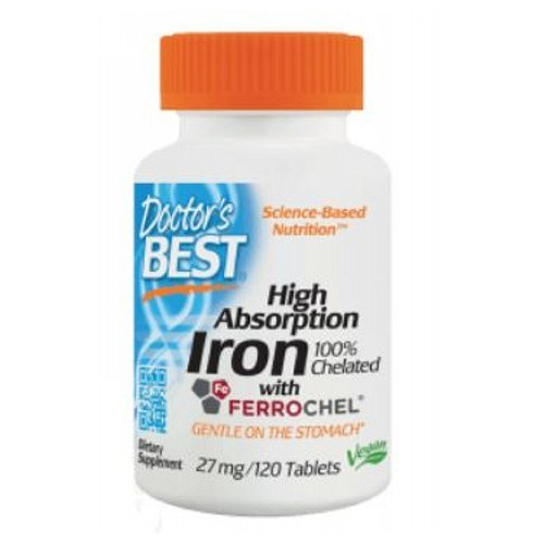High Absorption Iron with Ferrochel 120 Tabs by Doctors Best