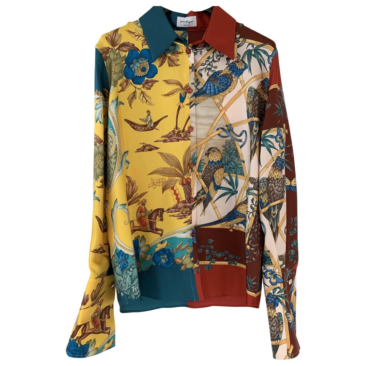 Camisa de Seda Salvatore Ferragamo