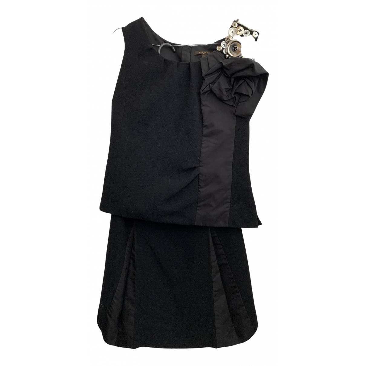 Vestido midi de Lana Louis Vuitton