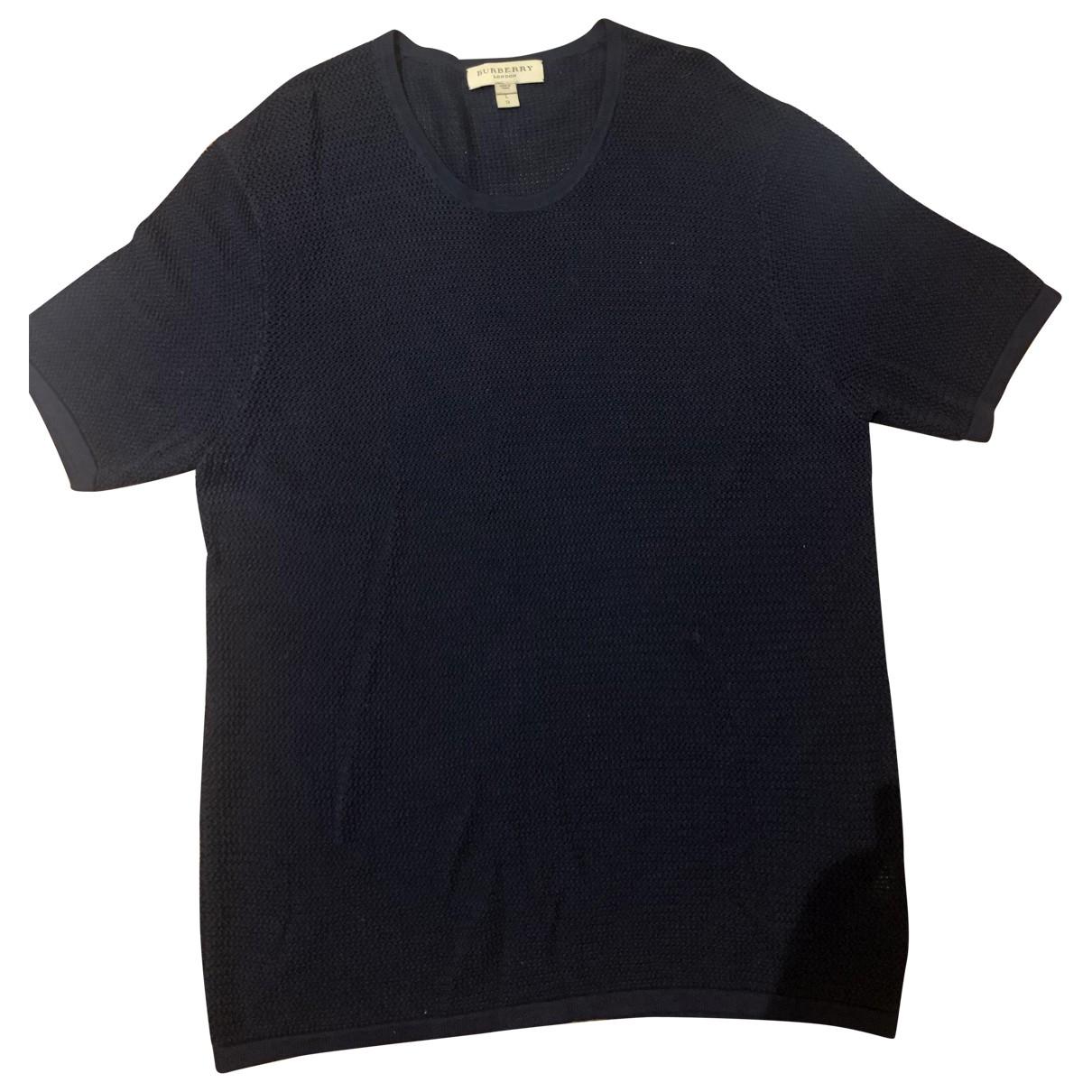 Burberry - Pulls.Gilets.Sweats   pour homme en soie - marine