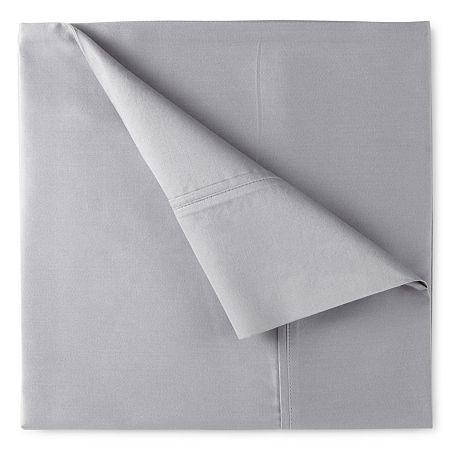 400tc Liquid Cotton Sateen Sheet Set - Liz Claiborne, One Size , Gray