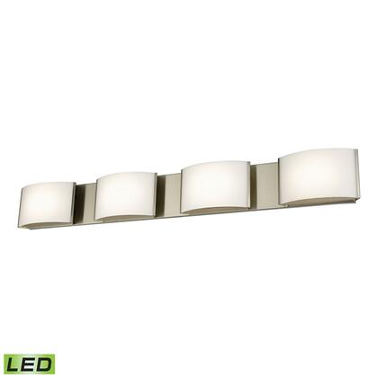 BVL914-10-16M 4 Light LED Vanity in Satin Nickel and Opal