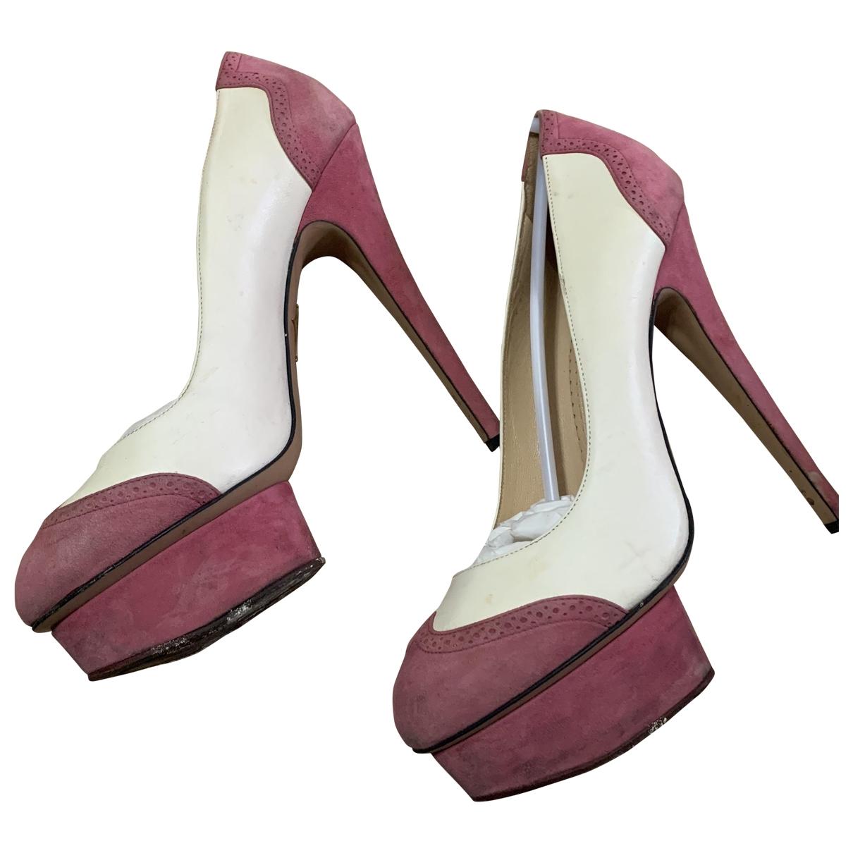 Charlotte Olympia - Escarpins Debbie pour femme en cuir verni - rose