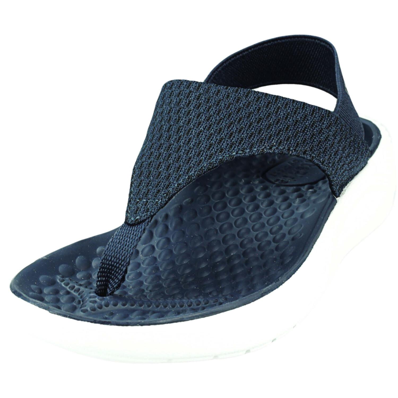 Crocs Women's Literide Mesh Flip Navy / White Ankle-High Sandal - 4M