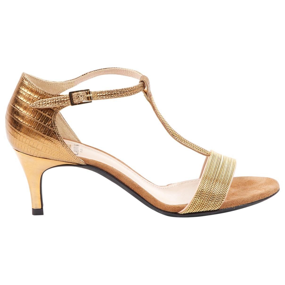 Lanvin \N Gold Leather Heels for Women 37 EU