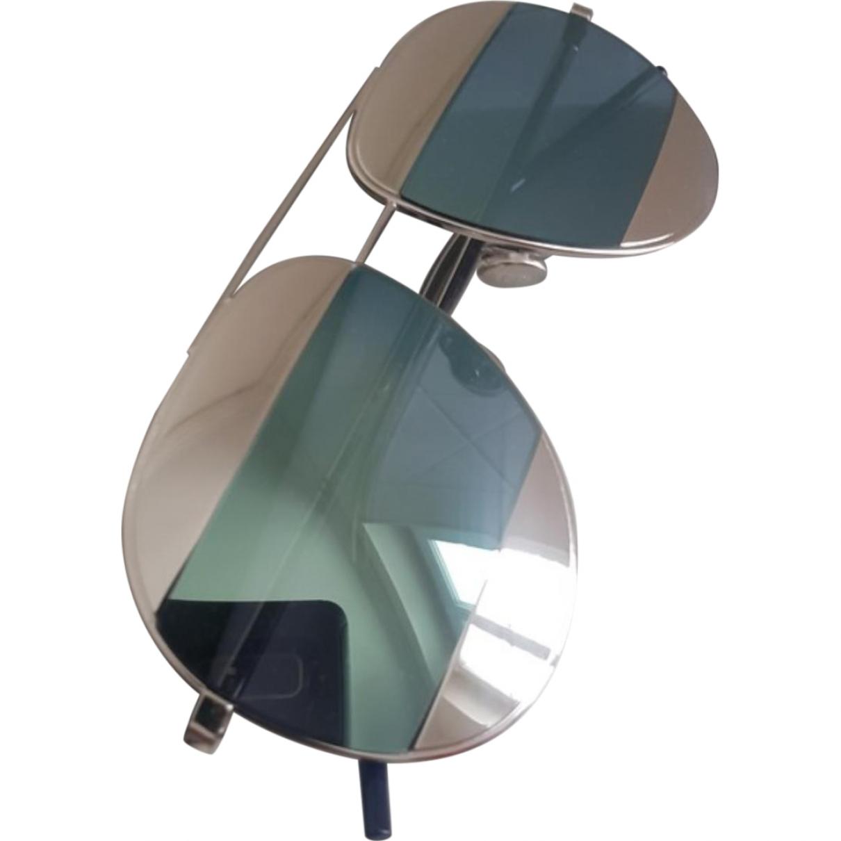 Dior \N Grey Metal Sunglasses for Women \N