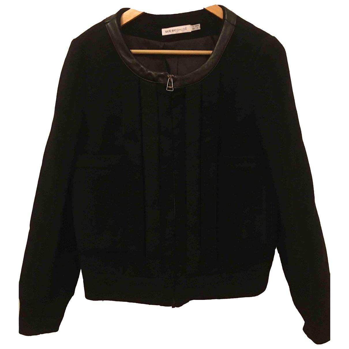 See By Chloe - Veste   pour femme en coton - noir