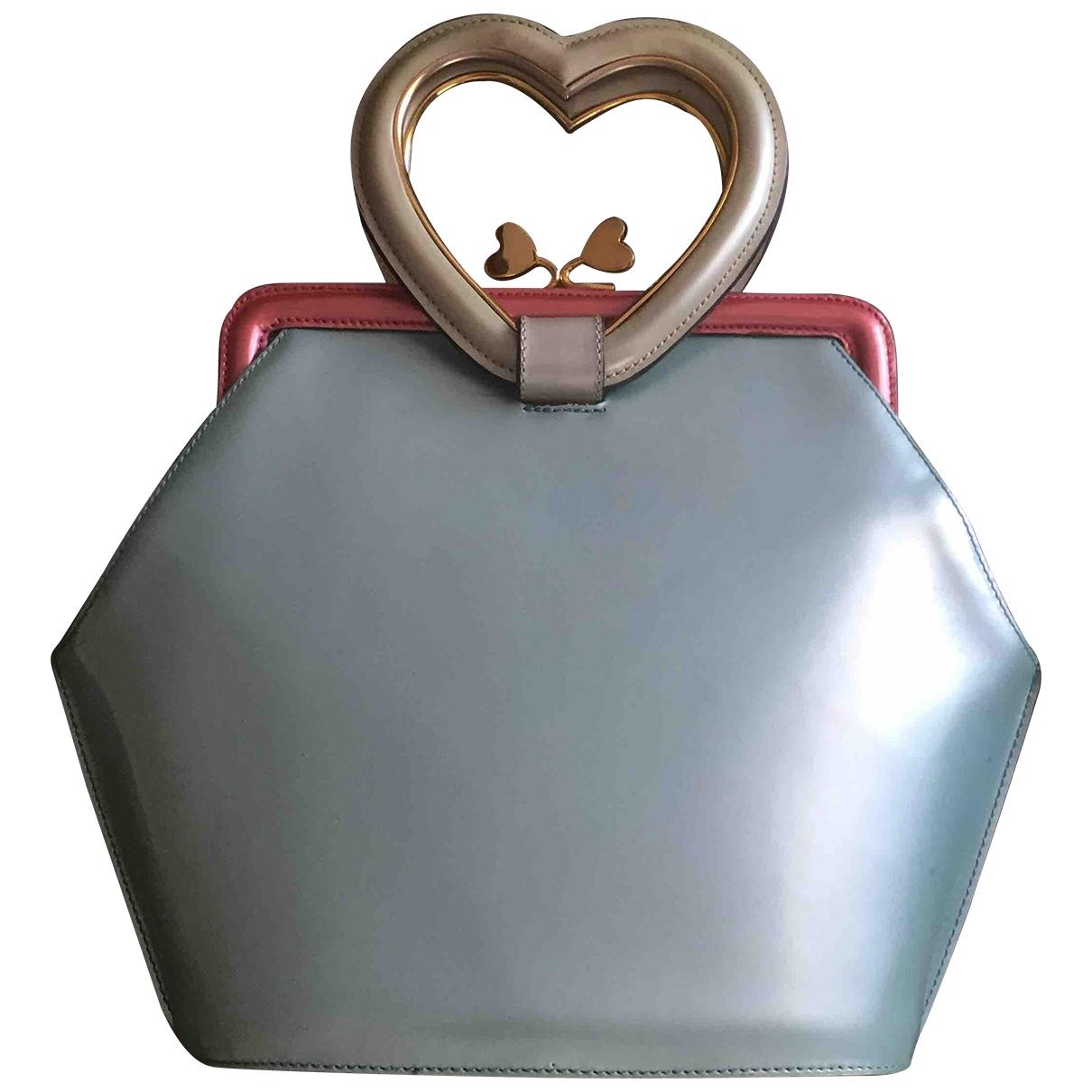 Moschino \N Handtasche in  Tuerkis Leder
