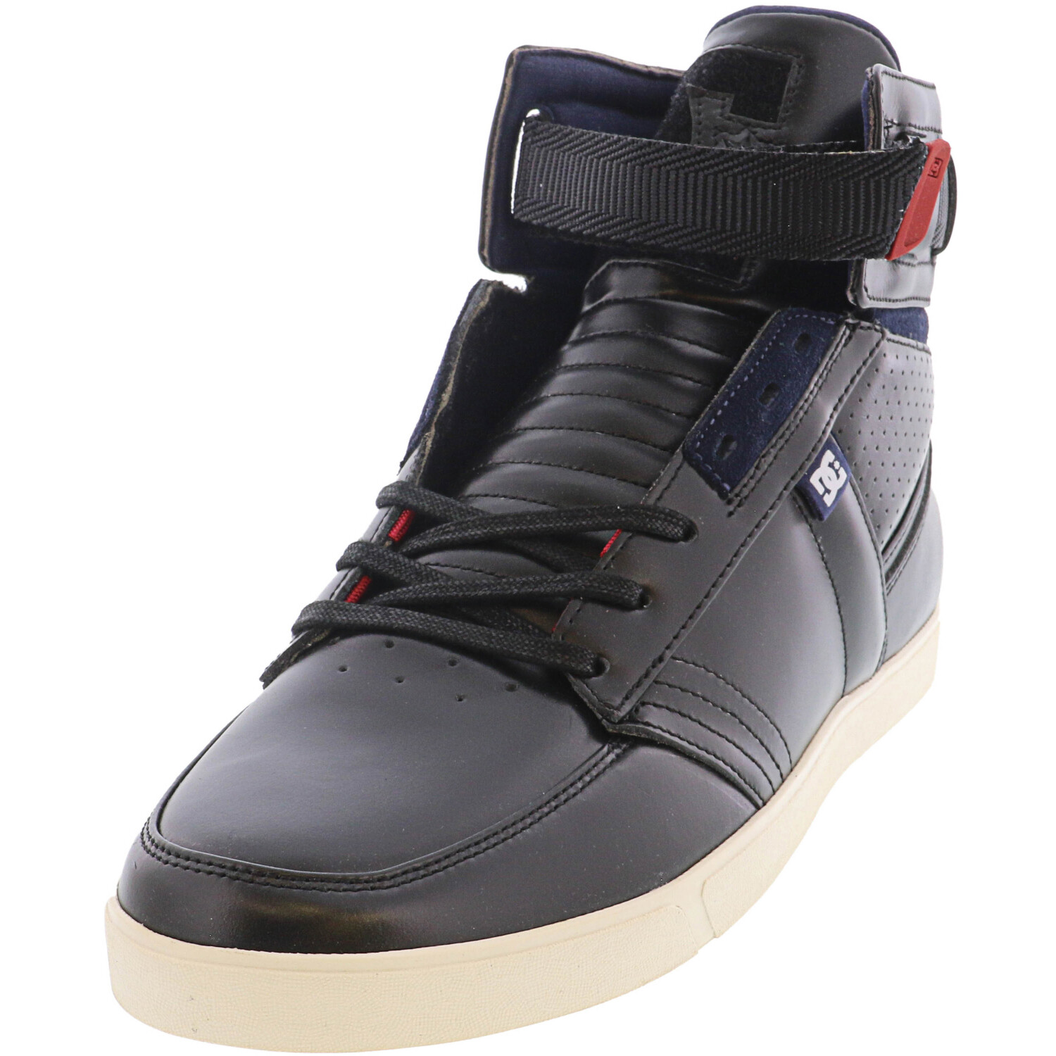 Dc Men's Admiral Sport Black High-Top Leather Women' - 9.5M