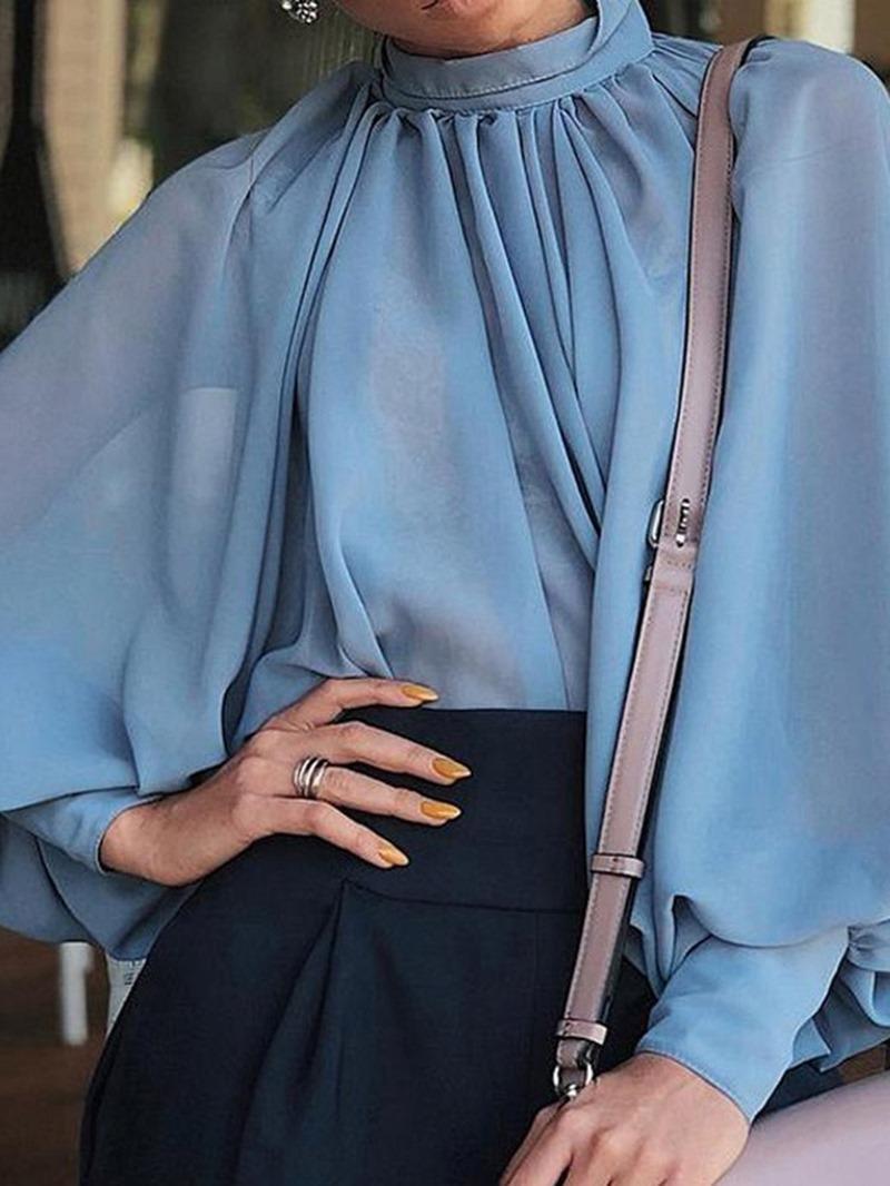 Ericdress Plain Standard Women's Long Sleeve Blouse