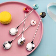 4pcs Donut Decor Spoon Set