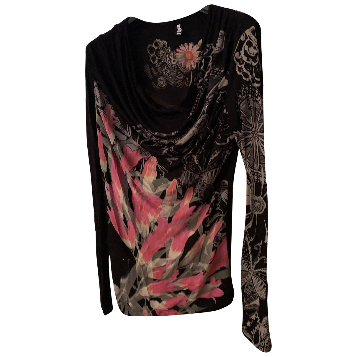 Desigual N Black Cotton  top for Women M International