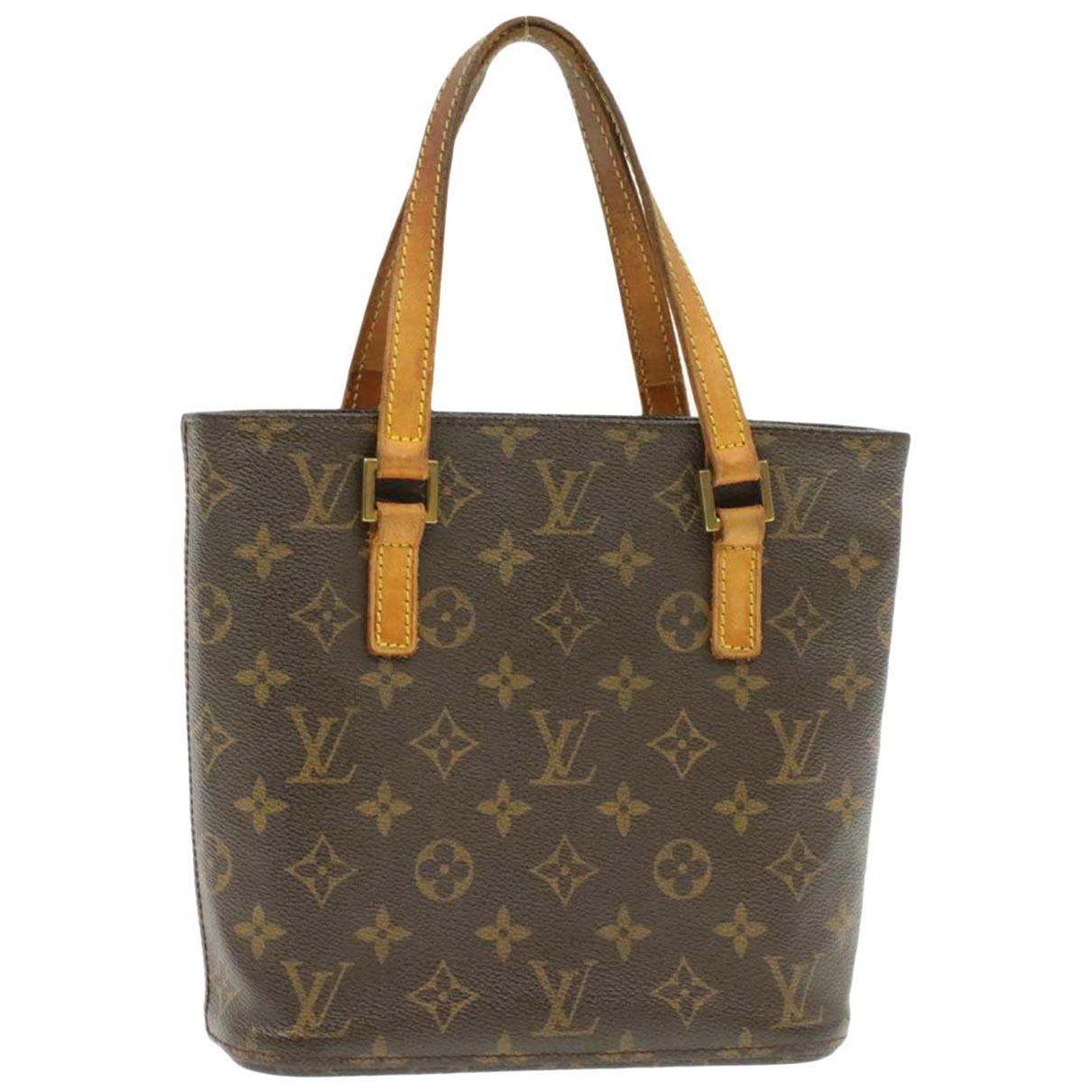 Louis Vuitton Vavin Handtasche in  Braun Leinen