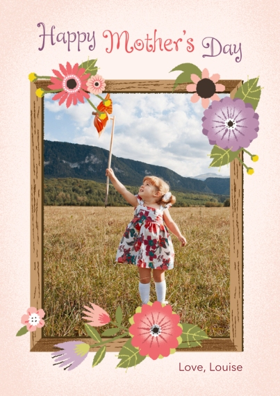 Mother's Day Cards Mail-for-Me Premium 5x7 Flat Card, Card & Stationery -Wood Frame Mother's Day