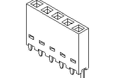 Molex , 90147 2.54mm Pitch 8 Way 1 Row Vertical PCB Socket, Through Hole, Plug-In Termination