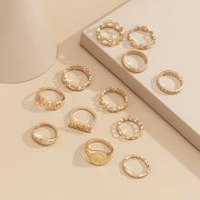 12 Stuecke Ring mit Lochern