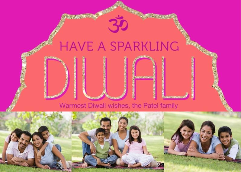 Diwali Cards 5x7 Folded Cards, Standard Cardstock 85lb, Card & Stationery -Sparkling Diwali