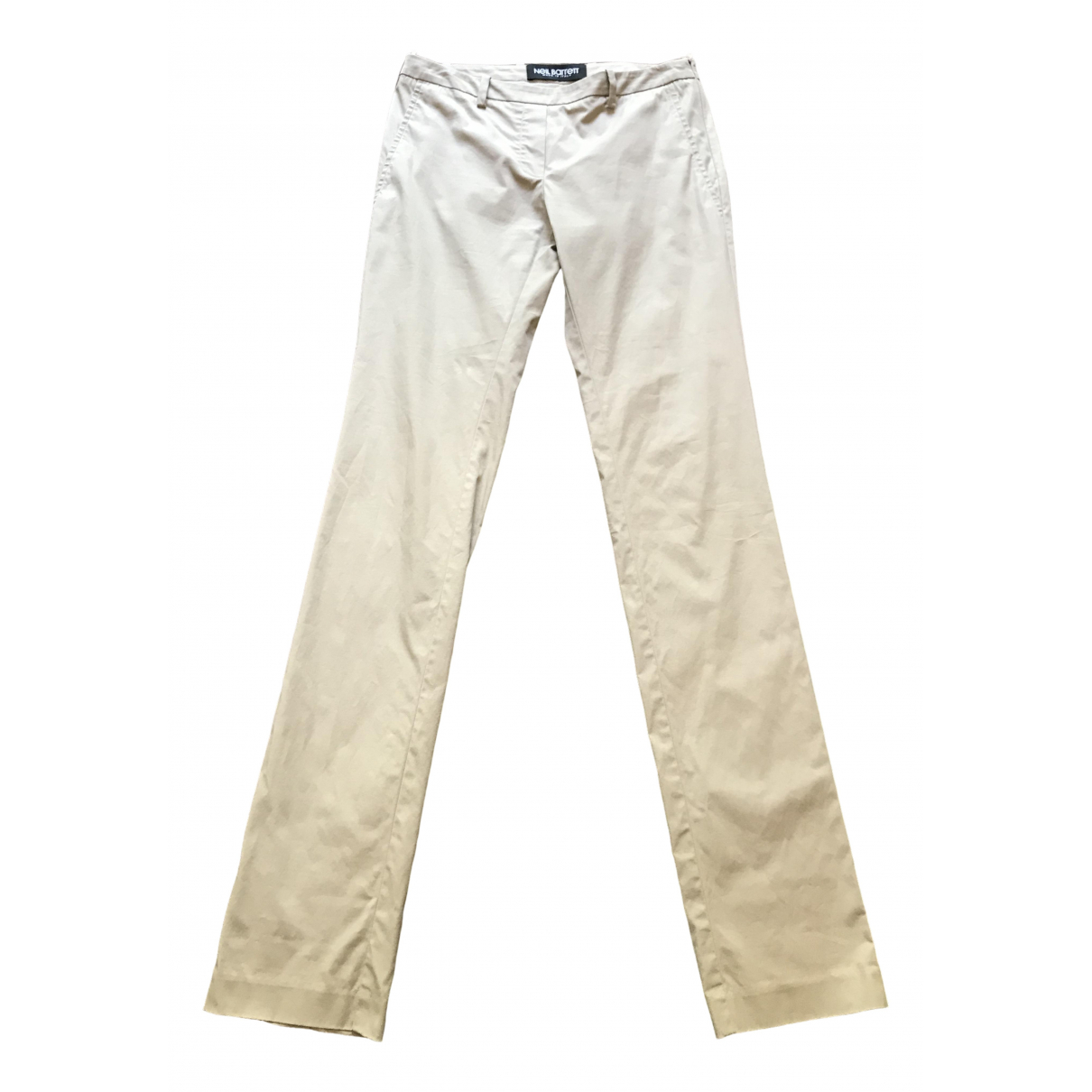 Neil Barrett \N Beige Cotton Trousers for Women 38 IT