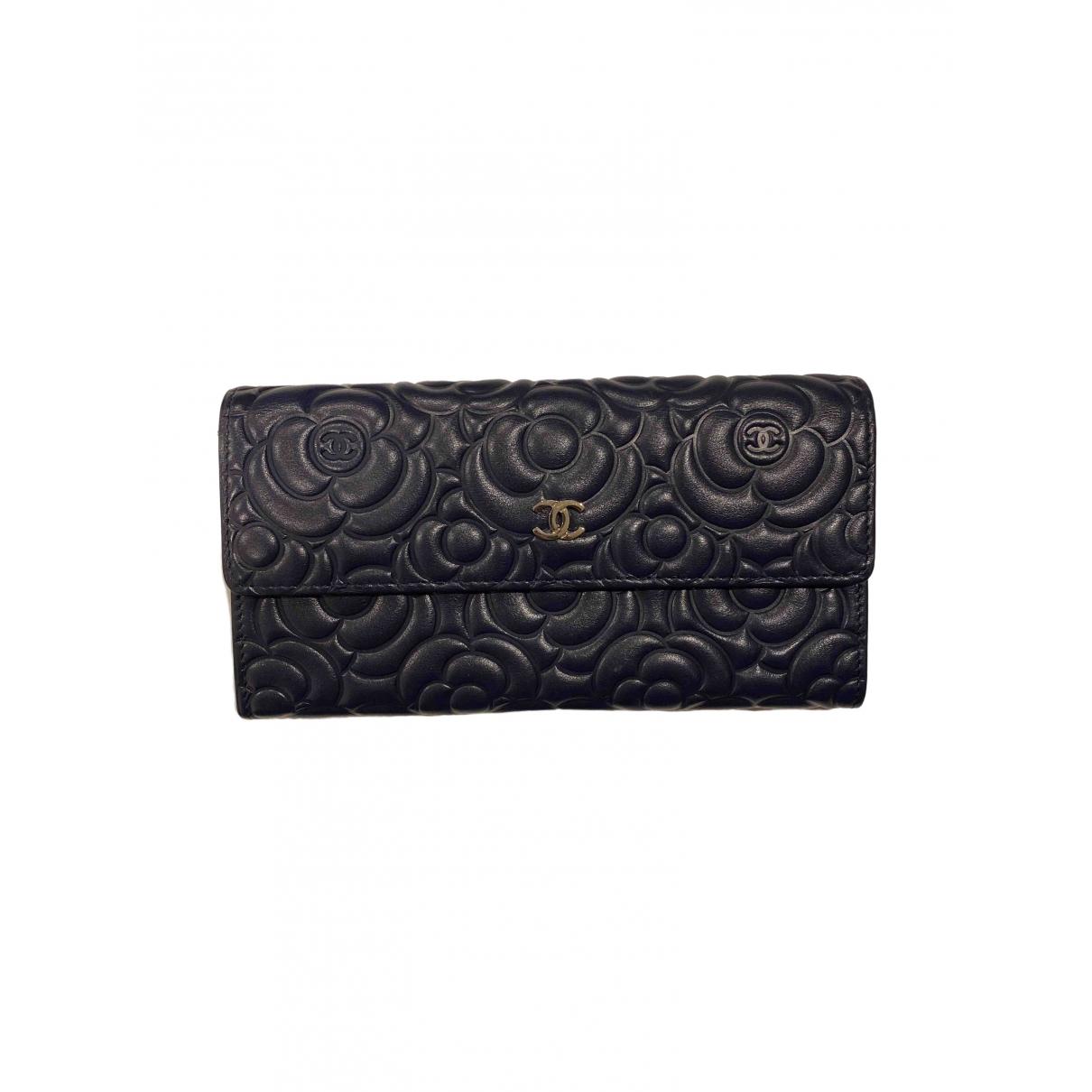 Chanel - Portefeuille Timeless/Classique pour femme en cuir - marine
