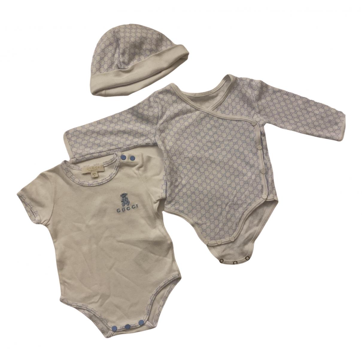 Gucci - Les ensembles   pour enfant en coton - blanc