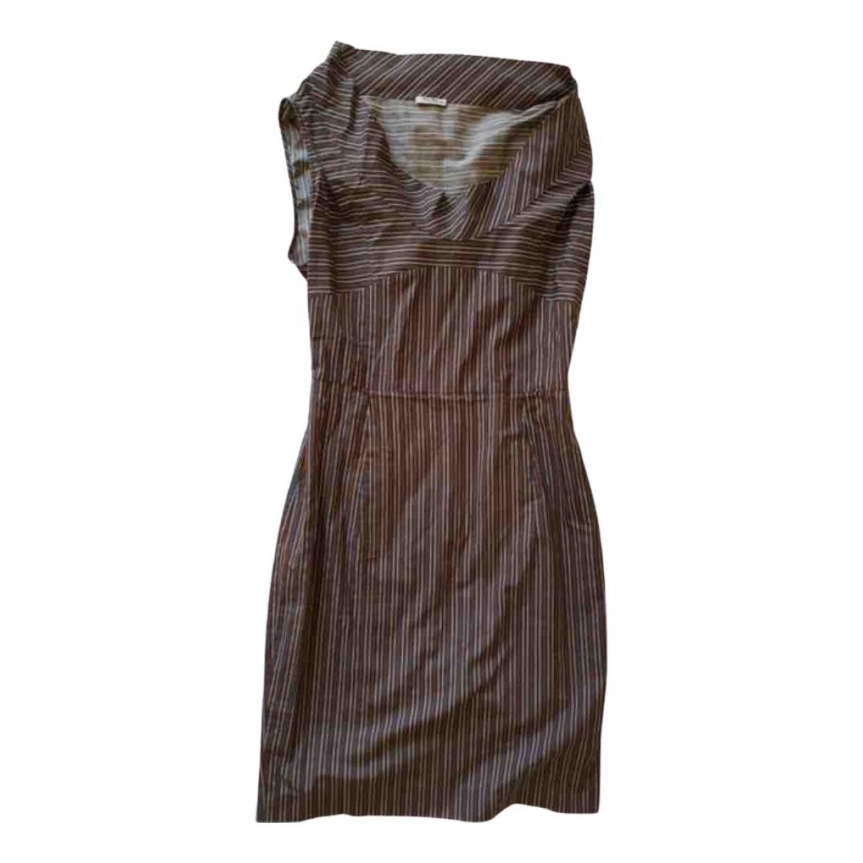 Miu Miu - Robe   pour femme en coton - marron