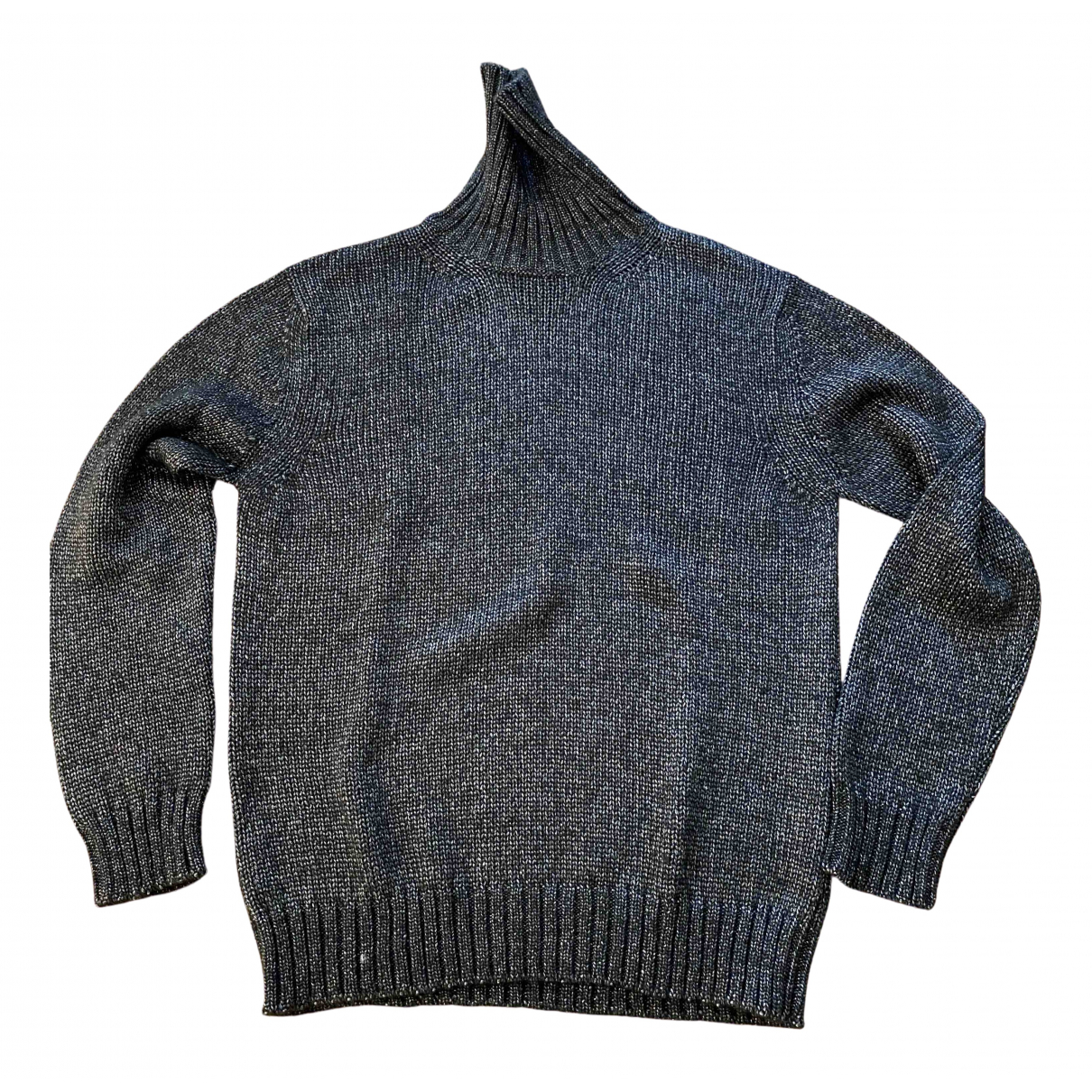 Les Hommes \N Pullover.Westen.Sweatshirts  in  Anthrazit Wolle