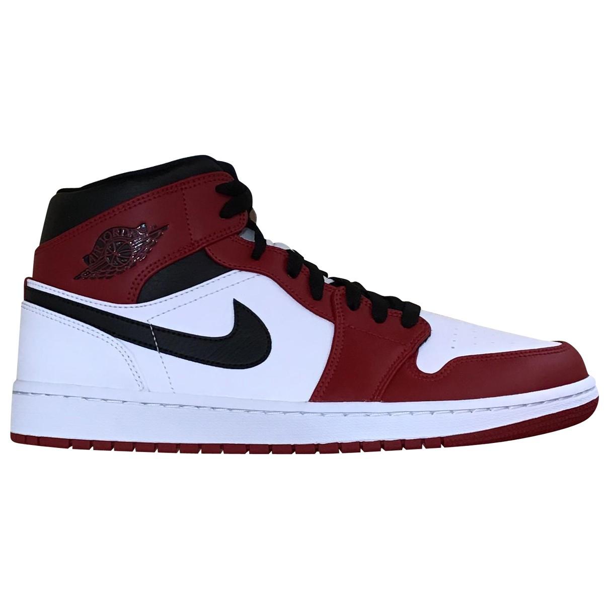 Jordan Air Jordan 1  Red Leather Trainers for Men 44 EU