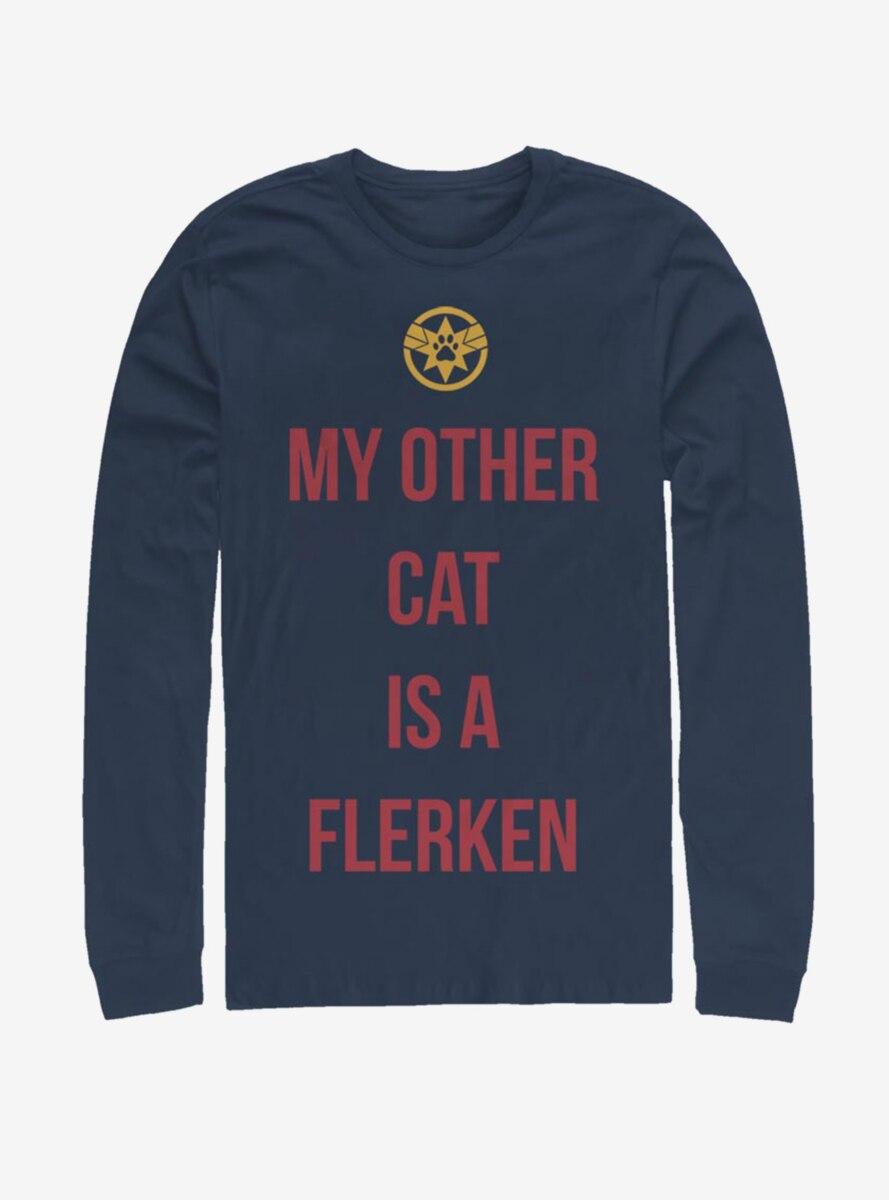 Marvel Captain Marvel Other Cat Long-Sleeve T-Shirt