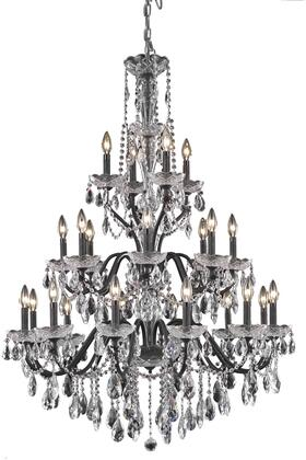 2016G36DB/SA 2016 St. Francis Collection Hanging Fixture D36in H49in Lt: 12+8+4 Dark Bronze Finish (Swarovski Spectra