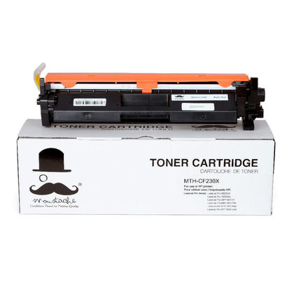 Compatible HP 30X CF230X Black Toner Cartridge With Chip High Yield - Moustache - 1/Pack
