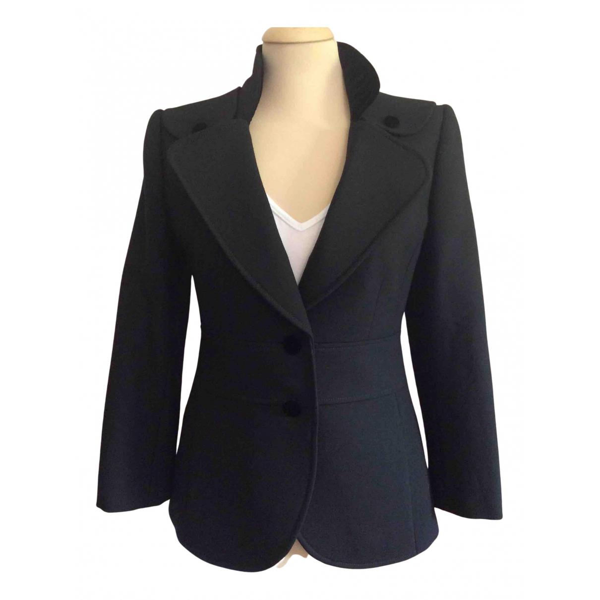 Emporio Armani N Black Wool jacket for Women 46 IT