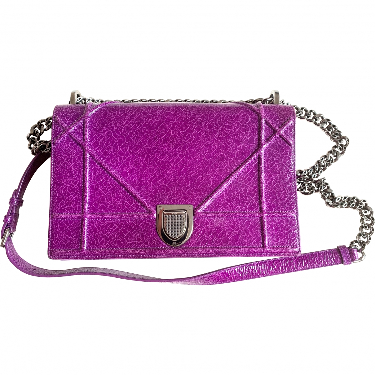 Dior Diorama Purple Patent leather handbag for Women \N