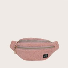 Double Zip Fluffy Fanny Pack