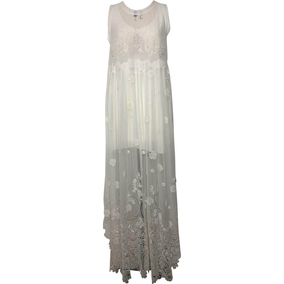 Chloe - Robe   pour femme en soie - blanc