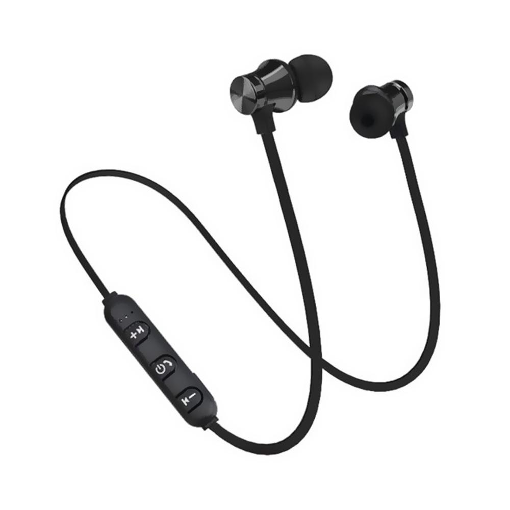 Magnetic Bluetooth Sports Earphones - Black