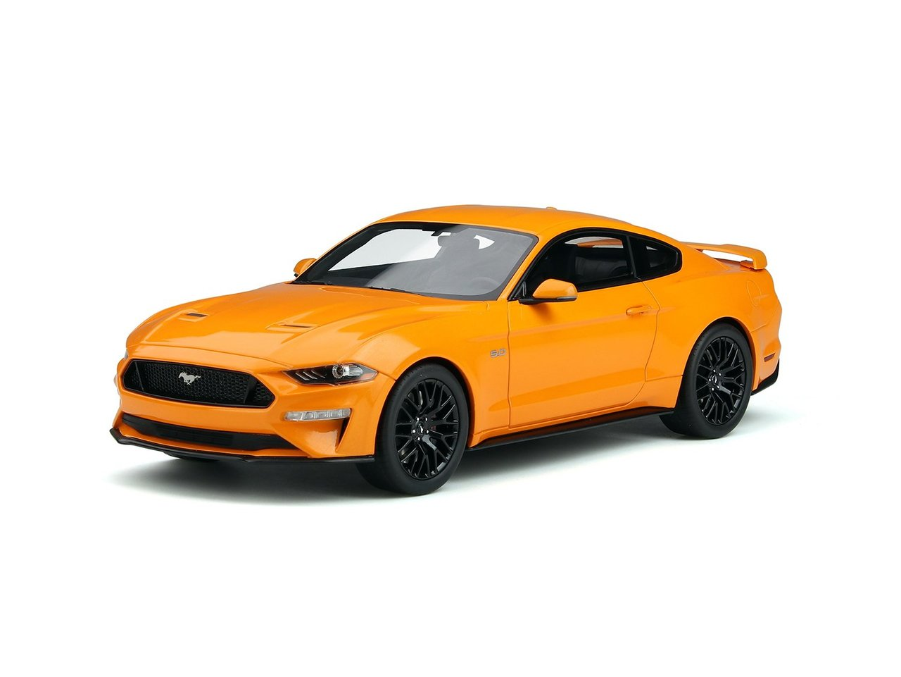 2019 Ford Mustang GT 5.0 Orange Fury 1/18 Model Car by GT Spirit