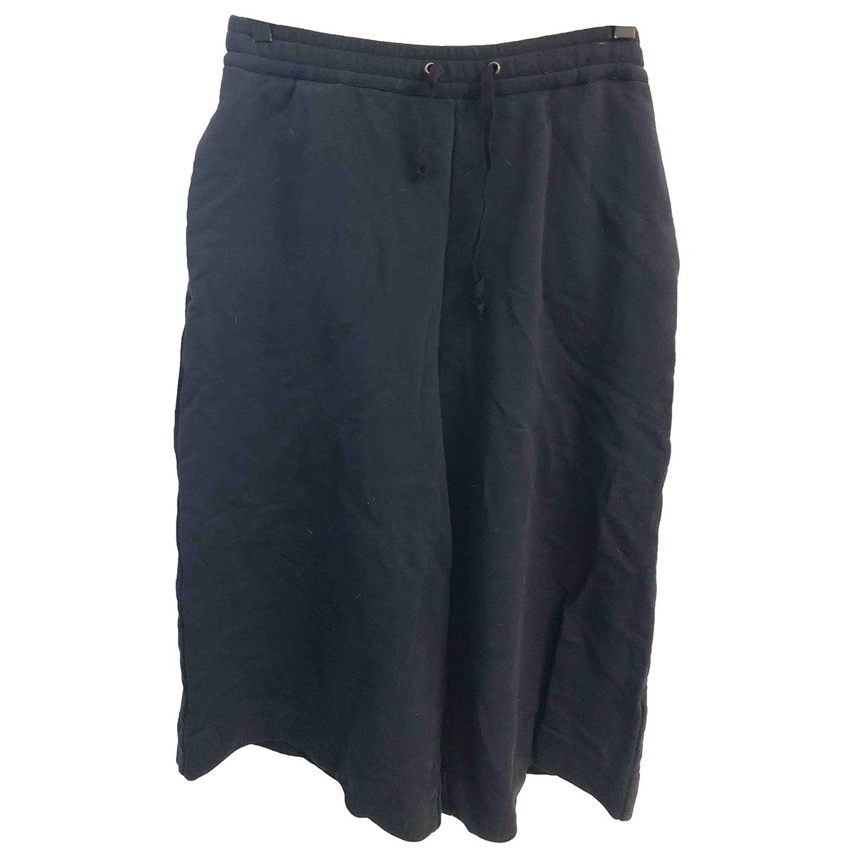 Maison Martin Margiela \N Blue Cotton Trousers for Women 40 IT