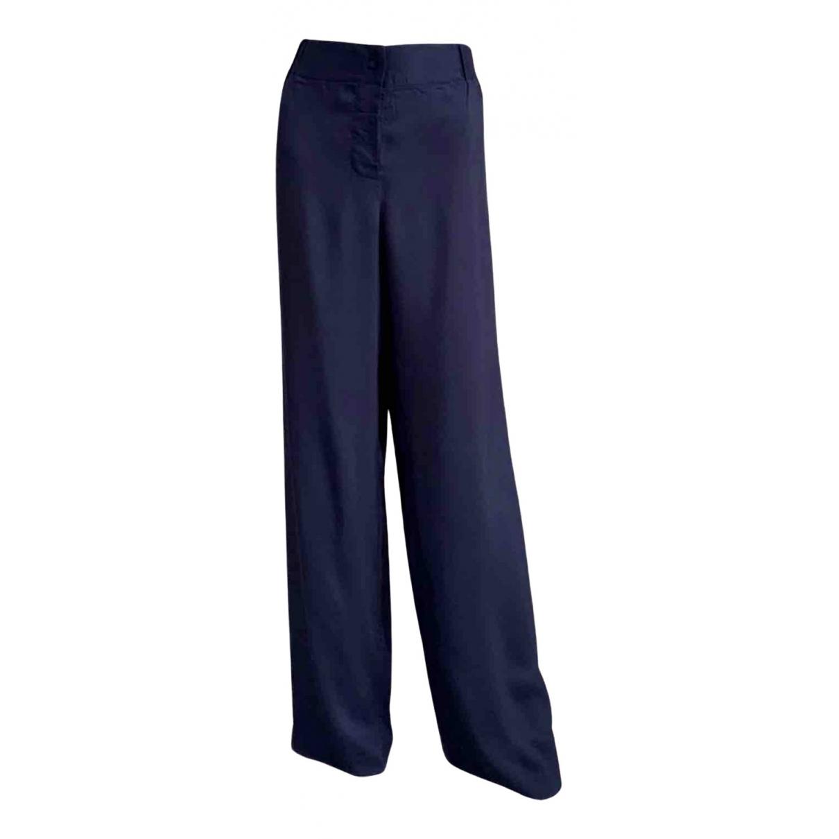 La Perla \N Blue Silk Trousers for Women 44 IT