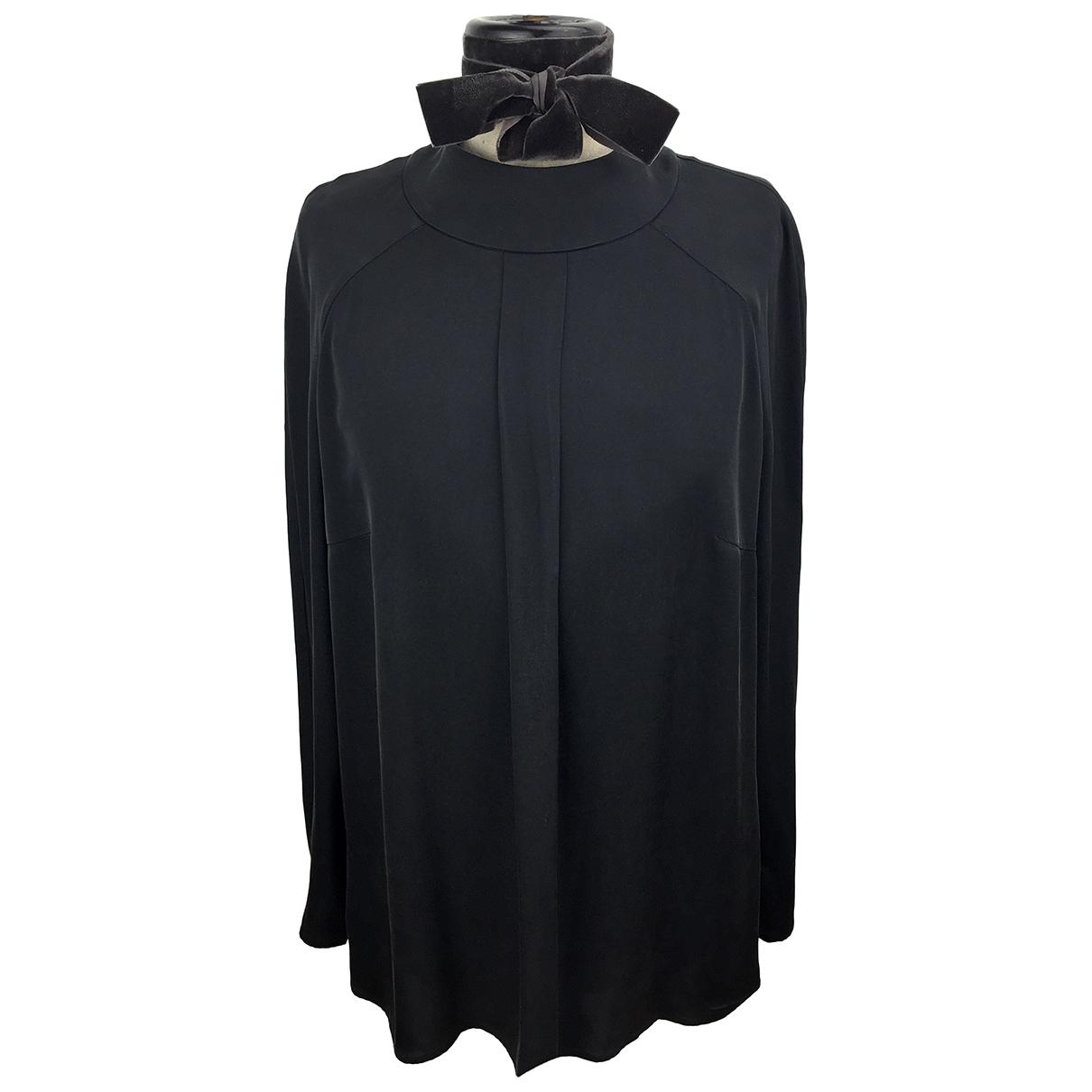 Hugo Boss - Top   pour femme en soie - noir