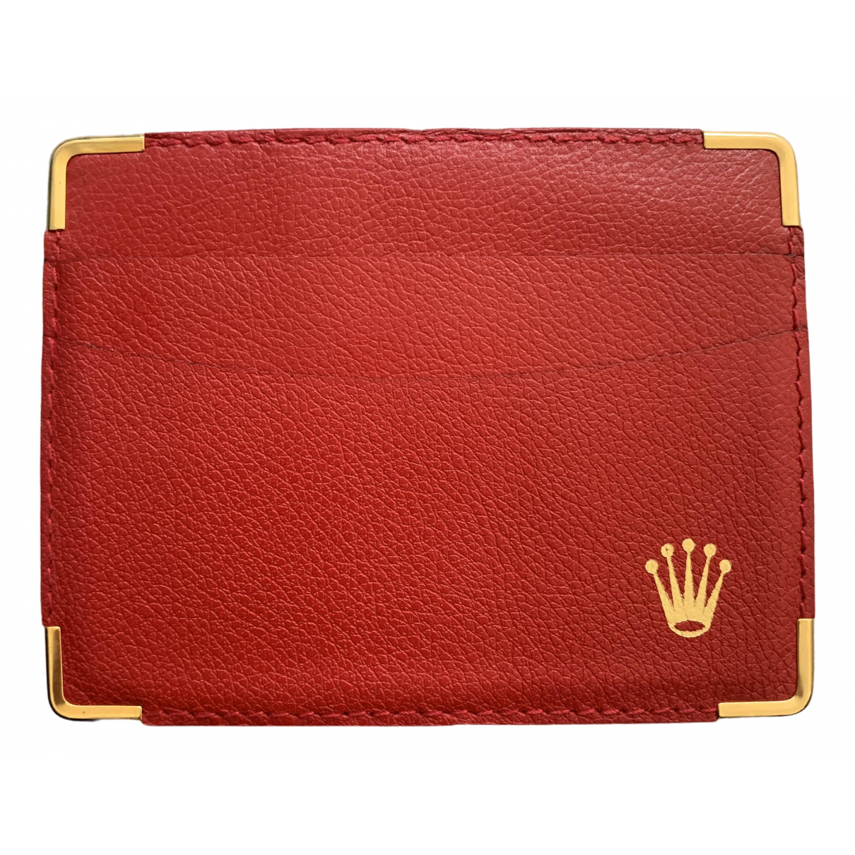 Rolex \N Kleinlederwaren in  Rot Leder